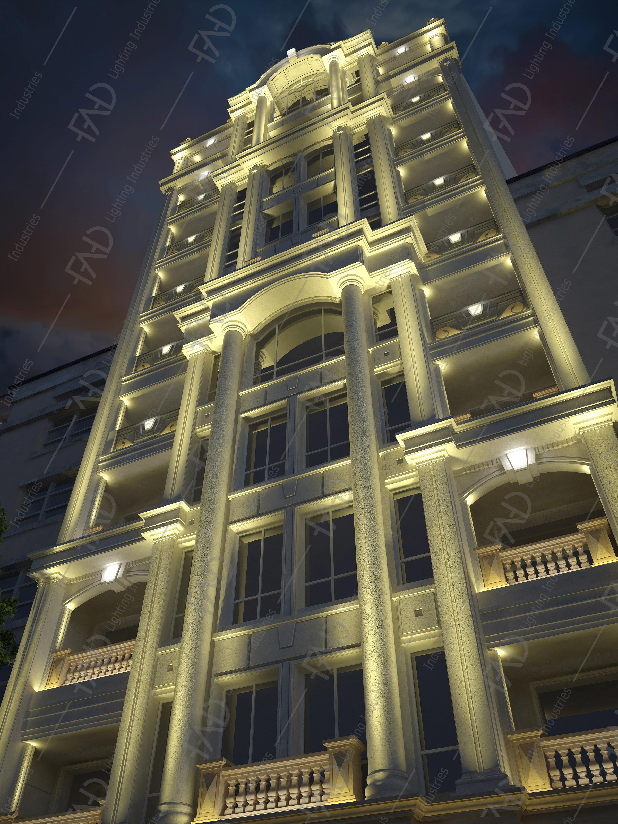 شرکت نورپردازی فاد - مجتمع مسکونی گلدن گاردن