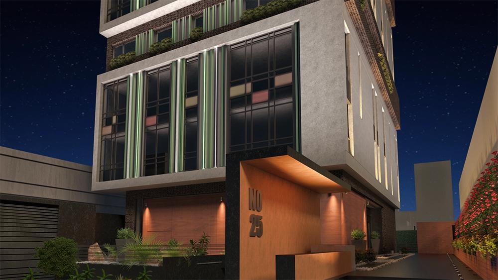 شرکت نورپردازی فاد - ساختمان مسكونی سعادت آباد