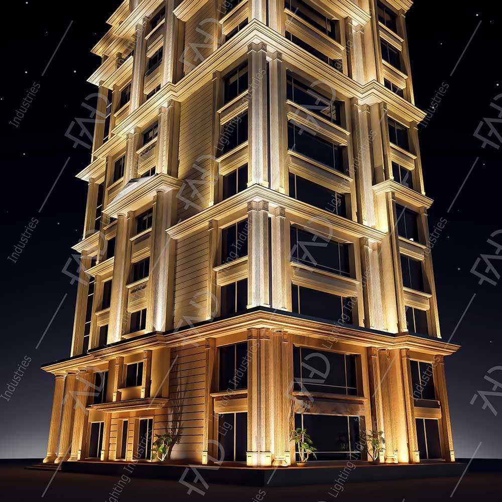 شرکت نورپردازی فاد - برج باغ مسكونی آراميس