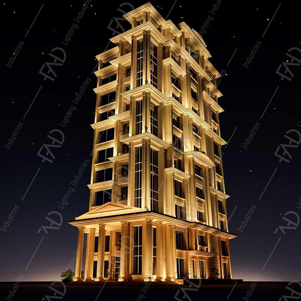 شرکت نورپردازی فاد - برج باغ مسکونی آرامیس