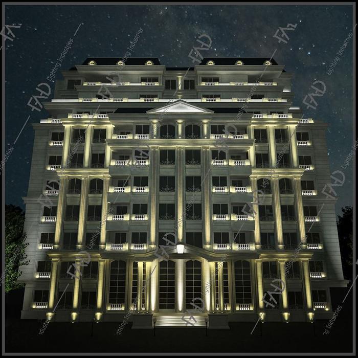 شرکت نورپردازی فاد - مجتمع مسکونی برلیان