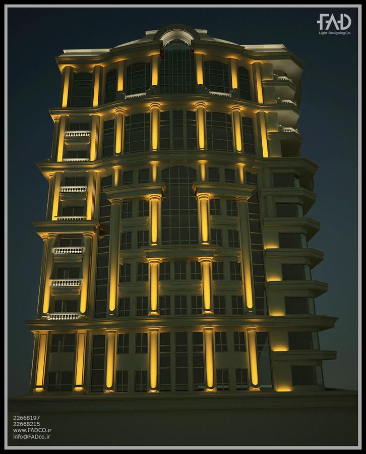 شرکت نورپردازی فاد - برج باغ جَم