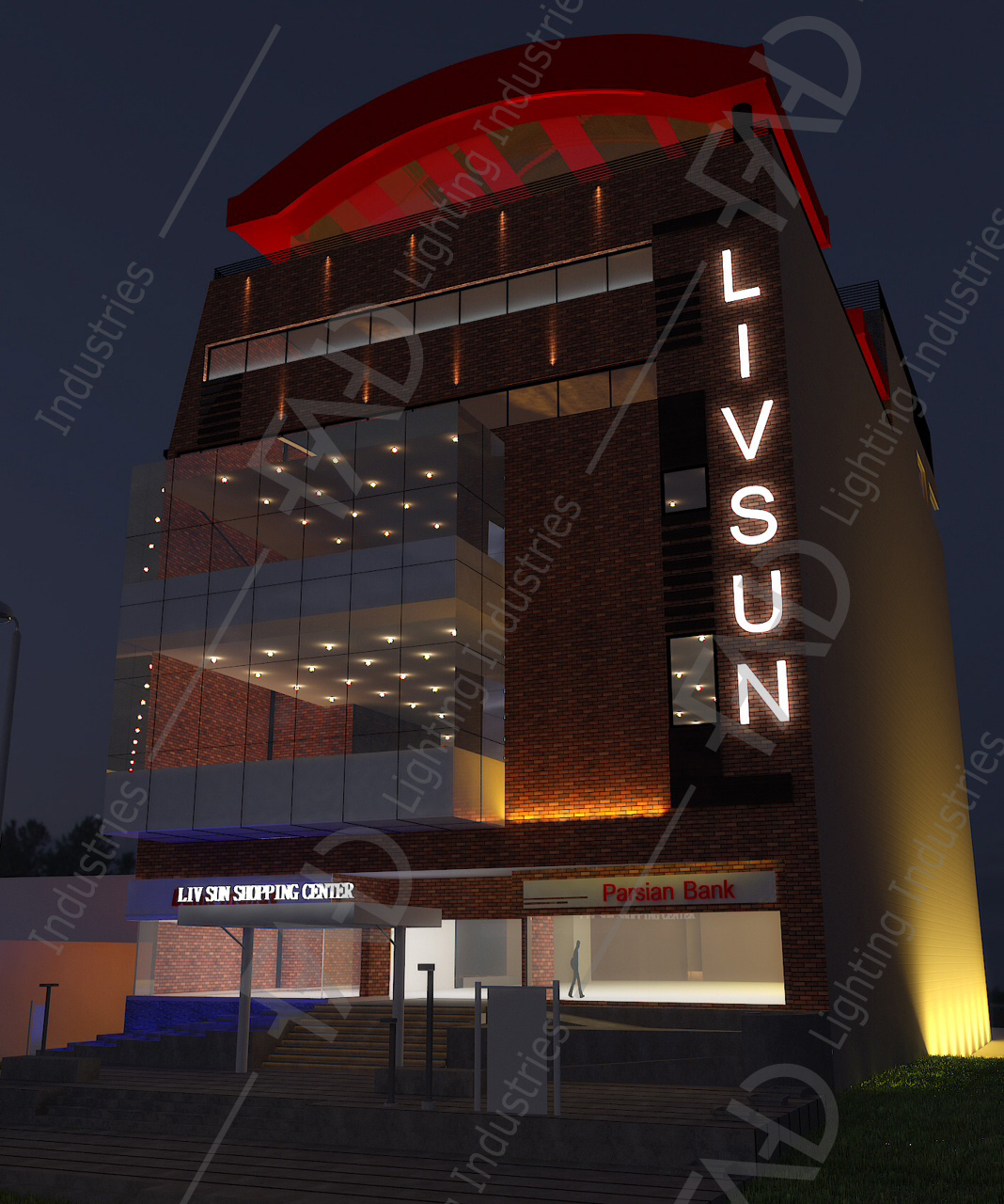 شرکت نورپردازی فاد - مجتمع تجاری اداری لیوسان