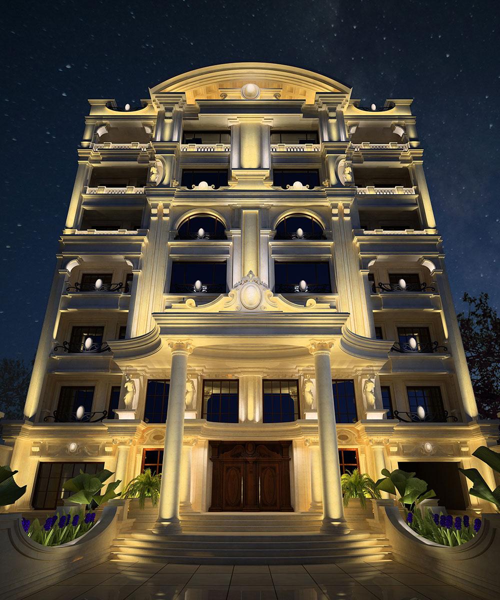 شرکت نورپردازی فاد - مجتمع مسکونی دروس