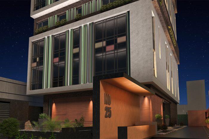 شرکت نورپردازی فاد - ساختمان مسکونی سعادت آباد